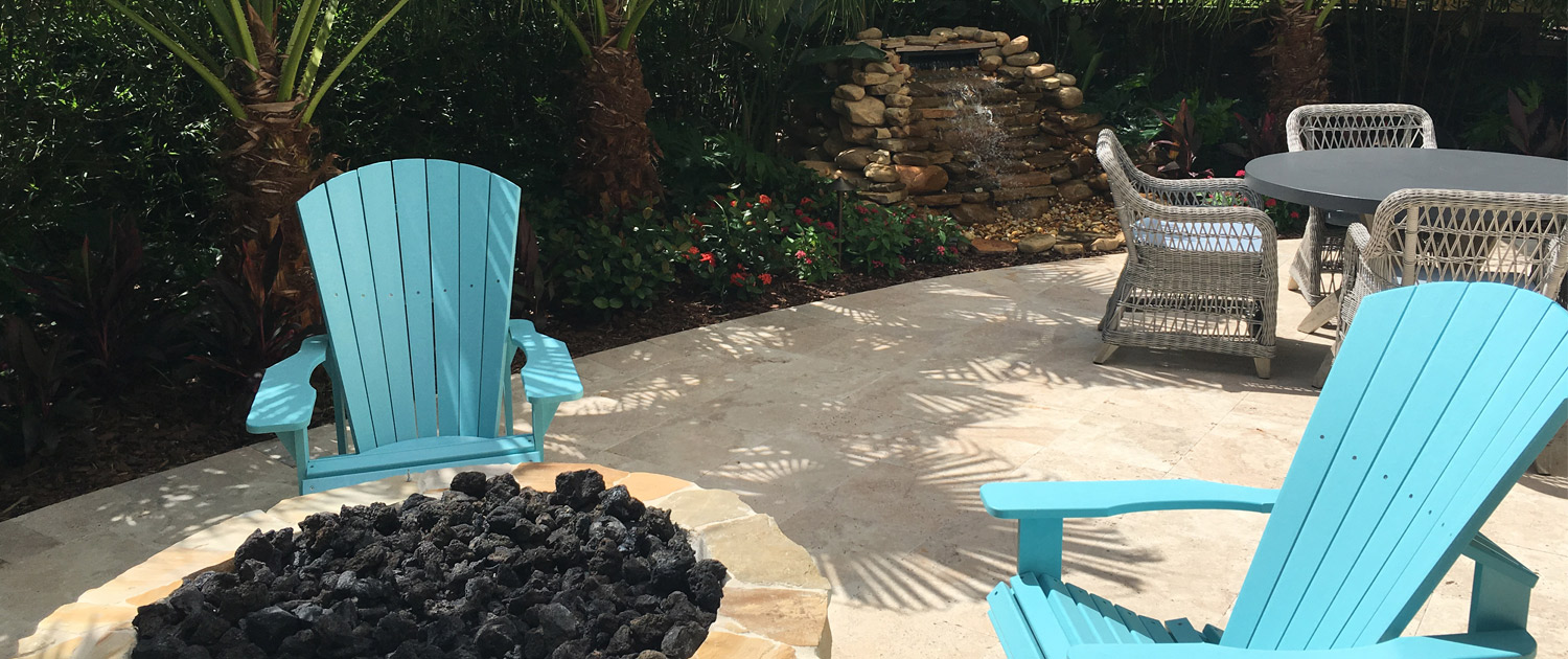 Patio Design Landscaping: Fire Pit Installation in Orlando, Florida by BLG Environmental Services